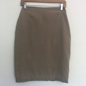Women's EXPRESS Stretch Skirt With Ruffled Hem